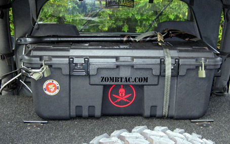 The Trunk Features 3 Padlock Holes On Front As Well Molded Hooks Side Which In This Example Were Drilled For Bungee