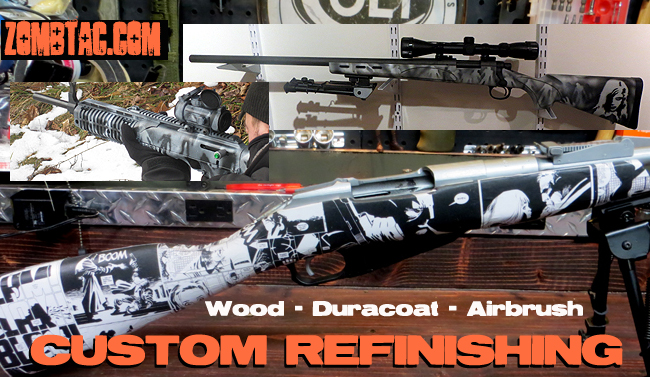 Custom Zombie Camo Rifle AR-15 Paint  Job